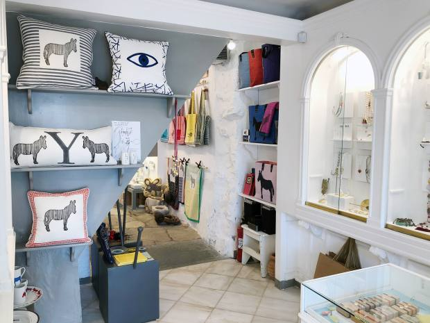 Set in a whitewashed building on Hydra's main harbour, Elena Votsi's shop is a treasure trove of modern Greek finds