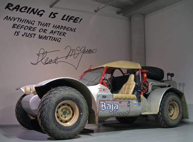 One of the Baja Boot buggies formerly owned by Steve McQueen