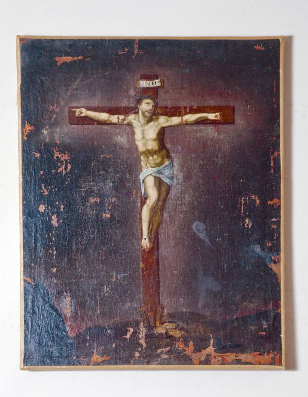 18th-century painting of Christ, oil on canvas, which sold for £395