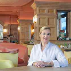 Hélène Darroze in her redesigned restaurant at The Connaught