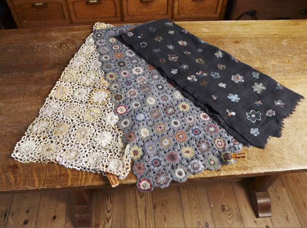 Sophie Digard's crocheted scarves, £220