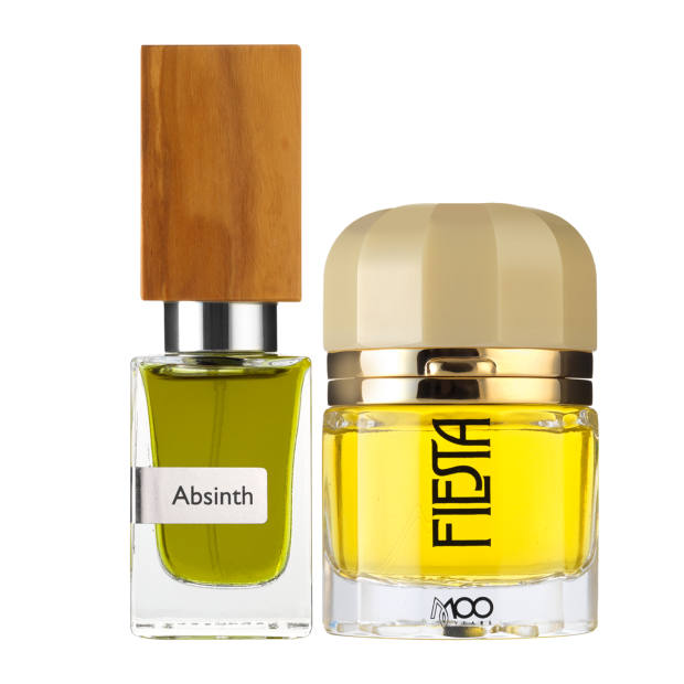 From left: Nasomatto Absinth, €118 for 30ml EDE. Ramón Monegal Fiesta, £400 for 50ml EDP