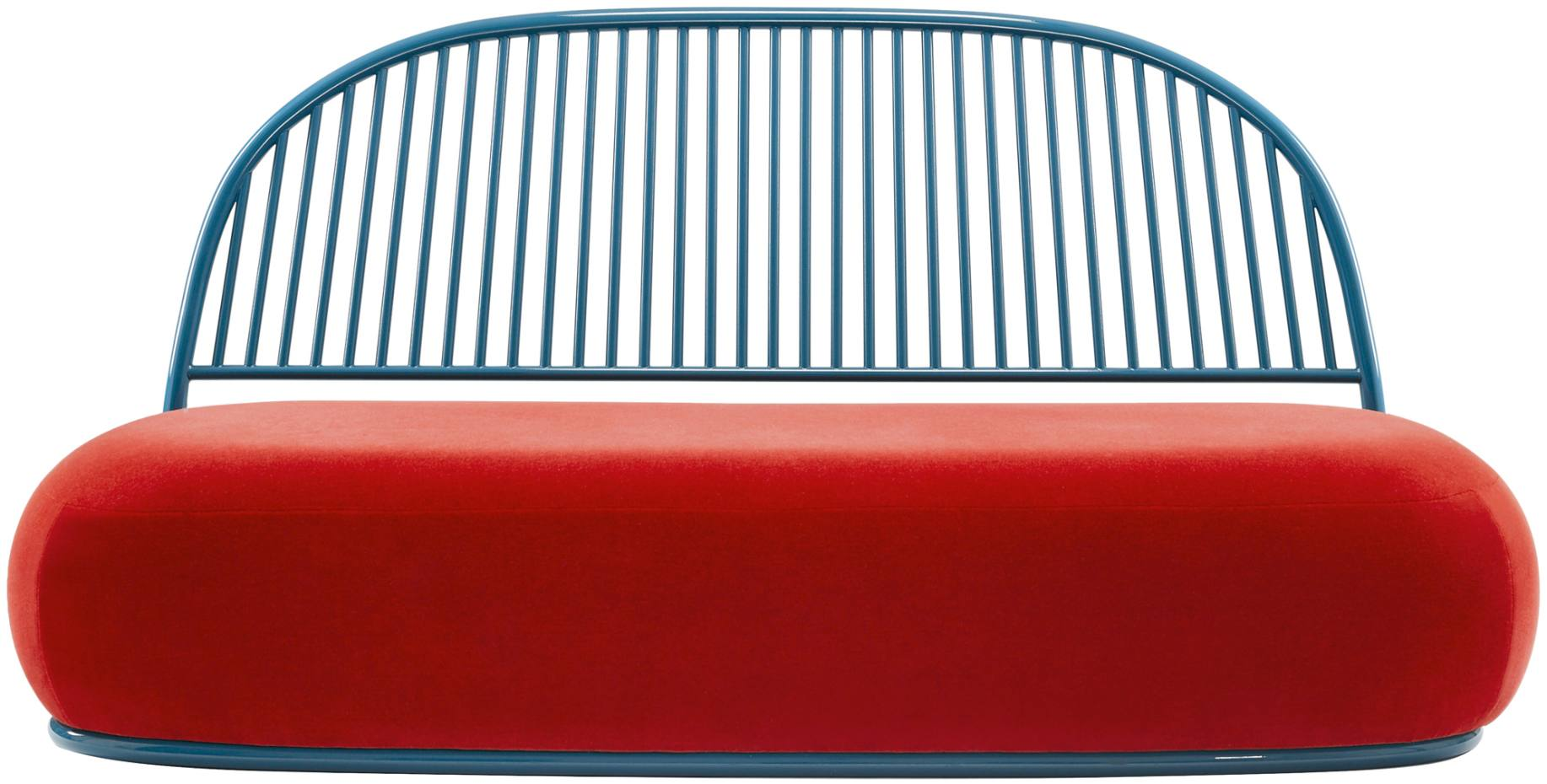 Sélacquered-steel and upholstery Circe sofa by Ini Archibong, from £9,430