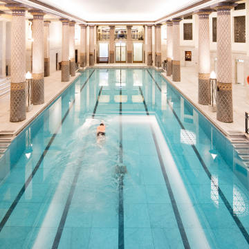 Paul Smith likes to swim at the Grecian-inspired pool at the Royal Automobile Club on London's Pall Mall