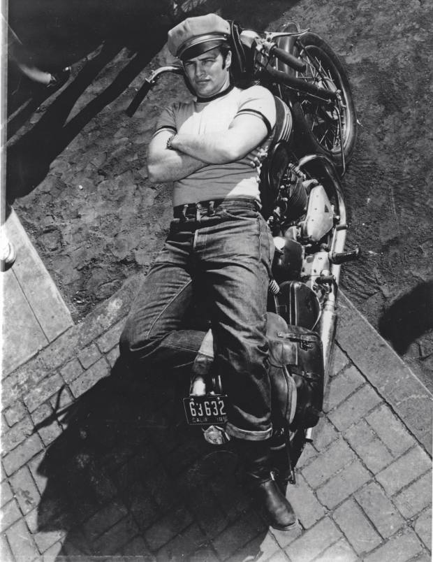 Marlon Brando in 1953's The Wild One, wearing Levi's jeans