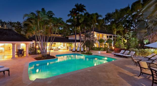 Six-bedroom BluffHouse and its two-bedroom Cottage, which have elegantly pared-back interiors and a private footpath to the beach at Barbados's Sandy Lane golf estate, $12m through Savills