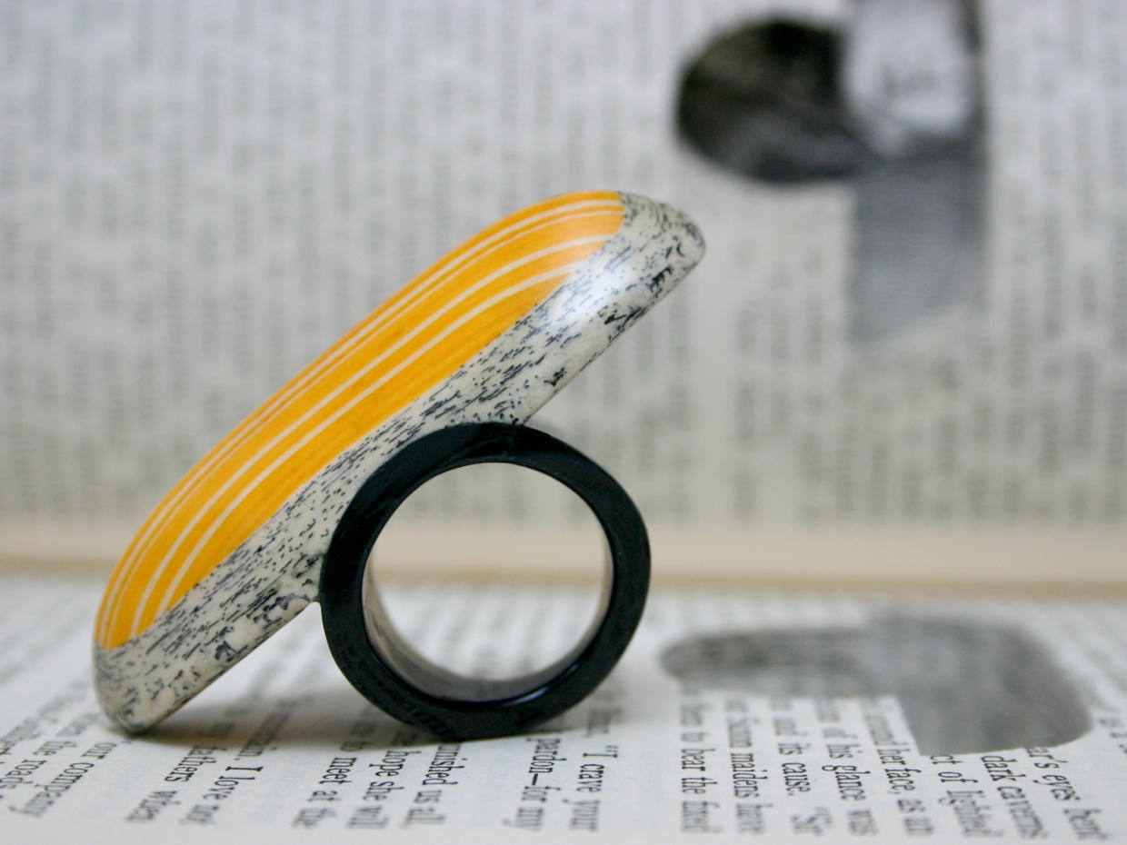 A Jeremy May ring crafted from Ivanhoe by Walter Scott
