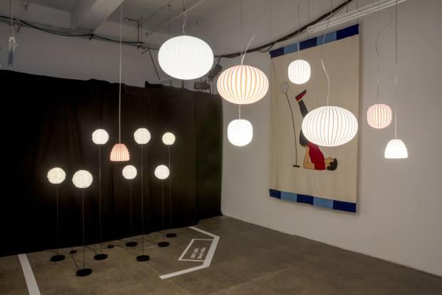 Dimitri Bähler's floor-standing Light Light (from £720) and Sebastian Wrong's suspended Filigrana light (from £295)