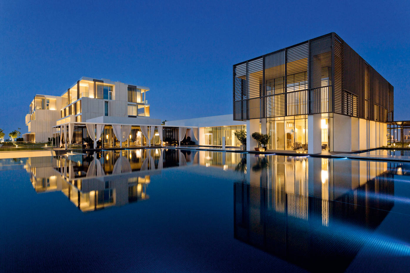 The rooms, suites and villas at Oberoi Beach Resort, Al Zorah, were designed by Piero Lissoni