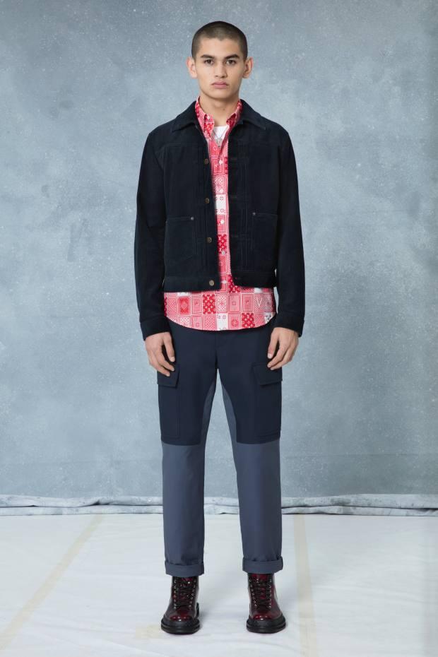 Louis Vuitton playing-card print shirt, £580