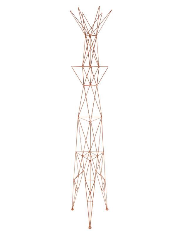 Tom Dixon copper-plated steel Pylon coat stand, £1,000
