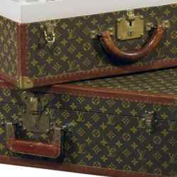 Louis Vuitton valises (€2,000-€3000) in Christie's Yves Saint Laurent auction in Paris.