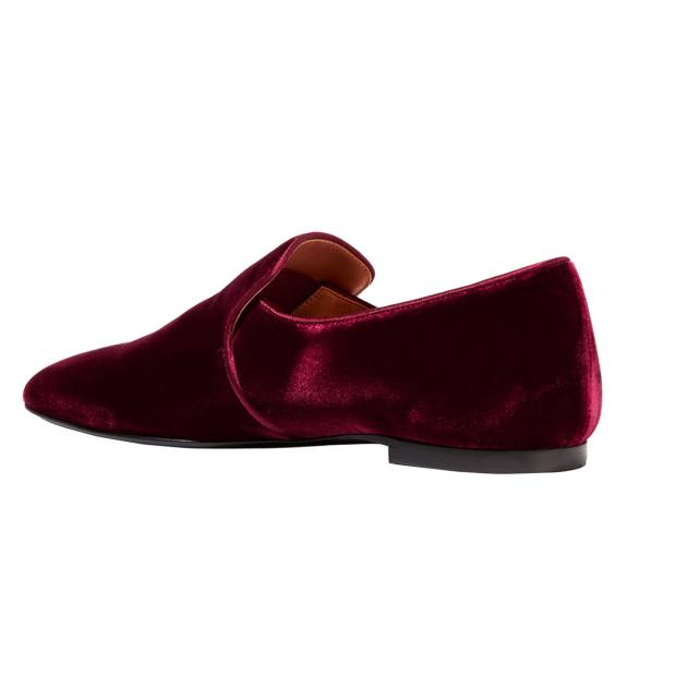 The Row velvet Alys slippers, £660