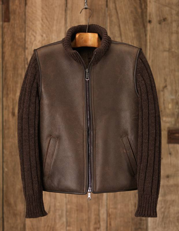 Purdey sheepskin body warmer with cashmere sleeves, £1,095