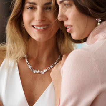 Yasmin and Amber Le Bon in Boodles' Wonderland Collection