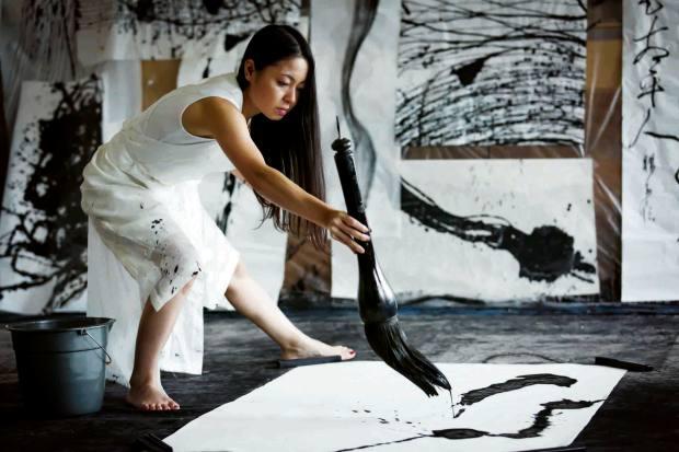 Calligraphy artist Tomoko Kawao