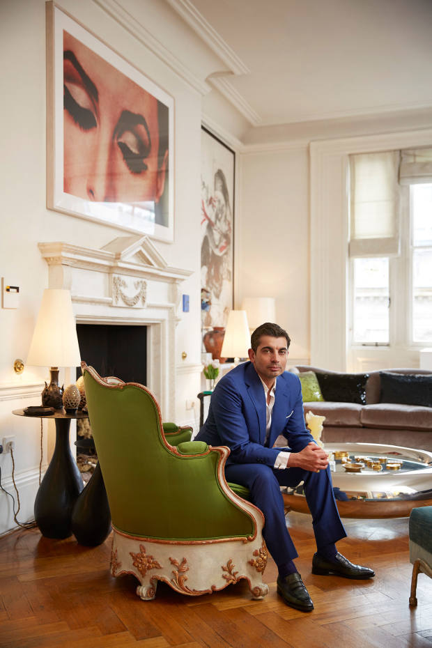 Francis Sultana at home in London