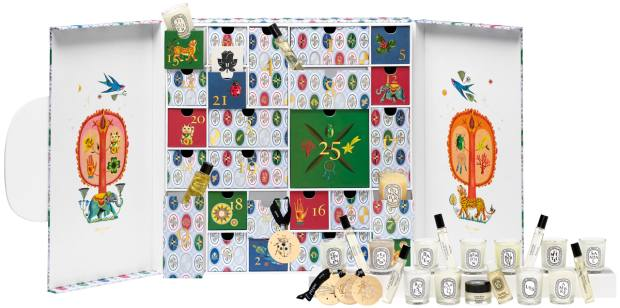 Diptyque, £320: candles, scents, oils and lucky charm ornaments