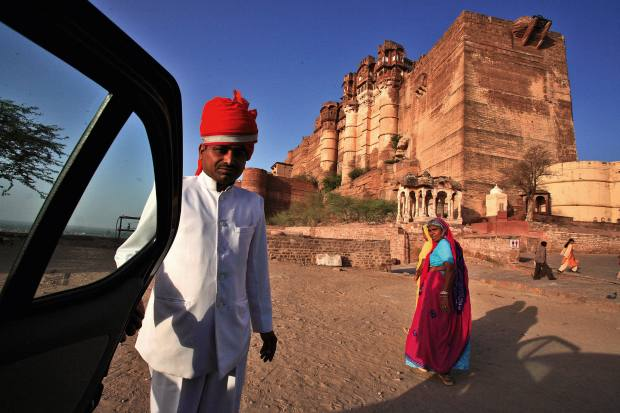 A visit to Mehrangarh Fort in Jodhpur kicked off the Great Game itinerary orchestrated by Brown + Hudson for the author
