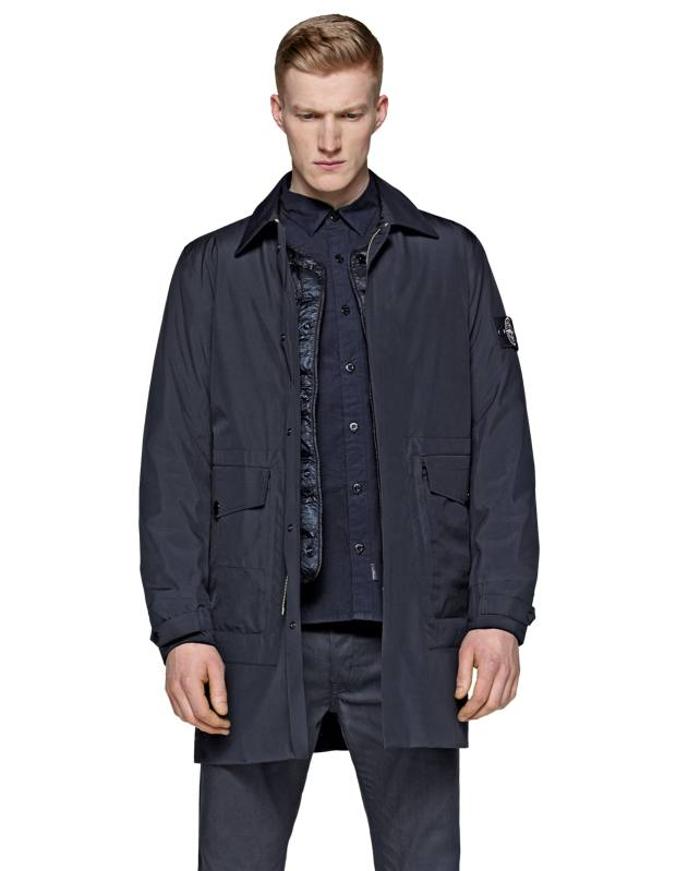 Stone Island resin-coated car coat, £795