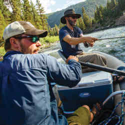 The resort also offers first rate fly-fishing in Blackfoot River