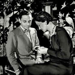 Coco Chanel with her friend and colleague, the Italian jeweller Fulco di Verdura, in 1937