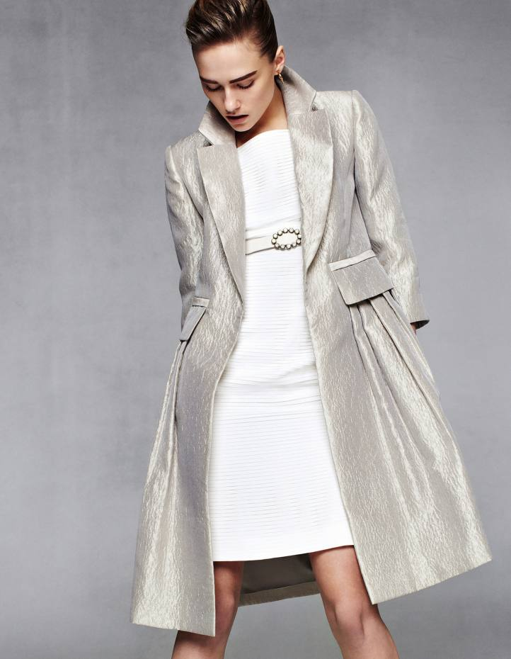 Bruce Oldfield silk coat and silk dress, both price on request