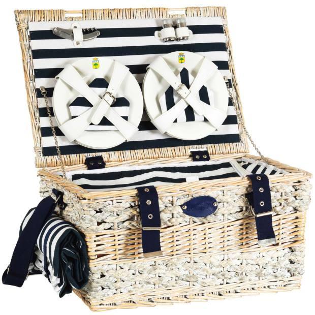 Les Jardins de la Comtesse six-person Marine picnic basket, £138.60 (available from September)