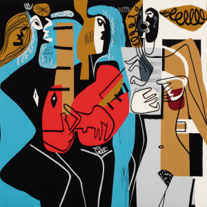Les Musiciennes I, 1953, by Le Corbusier, sold for €190,000 by Galerie Downtown – François Laffanour