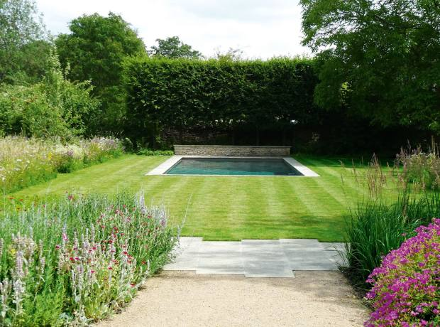 The swimming pool by Dan Pearson at The Old Rectory, Gloucestershire.