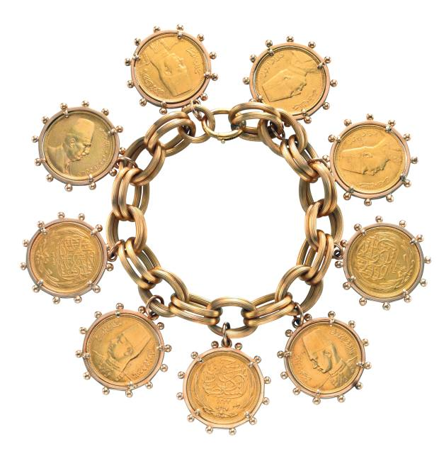 Chaumet coin bracelet, $22,500, from FD Gallery