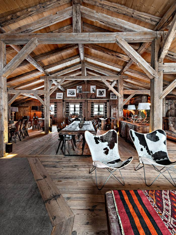 La Ferme de Bacré, the new mountain restaurant from chic Alpine hotel Les Fermes de Marie