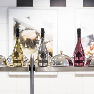 The dishes on the menu showcase the pleasures of drinking champagne