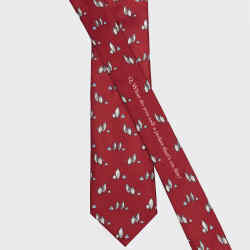 Sirplus silk tie, £75; 10 per cent of profits go to the Global Penguin Society