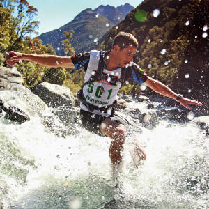 One of the Coast to Coast challenges is a mountain run with over 30 river crossings