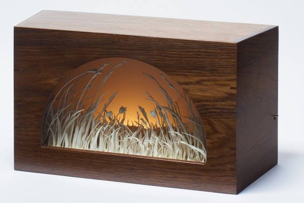 Meadow, displayed in a Peephole Box, by Katie Spragg, £4,600