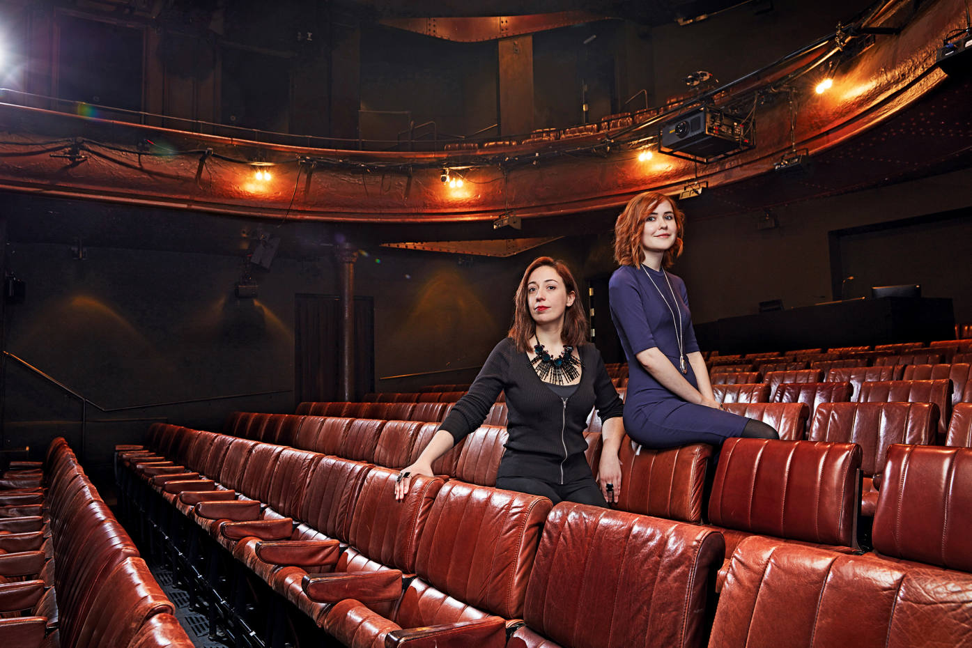 Ana Inès Jabares-Pita (left), winner of The Linbury Prize for Stage Design, and Katherine Soper, winner of The Bruntwood Prize for Playwriting, both worked on Wish List, which was performed at London's Royal Court