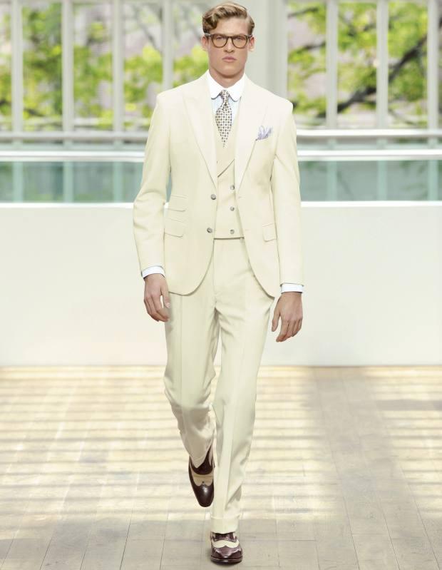 A Hackett spring/summer 2013 catwalk look, with Crockett & Jones shoes, £330