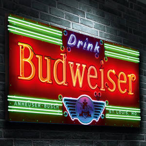 Pre‑1937 Budweiser sign, £12,500 at The Games Room Company