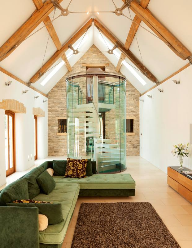 Chantry's Barn, a five-bedroom conversion in Cheltenham, Gloucestershire, £2.35m through Carter Jonas
