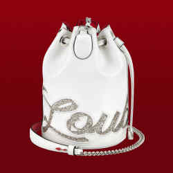 Calfskin bag with a laser-cut Louboutin signature and hand-embroidered edging, £1,095