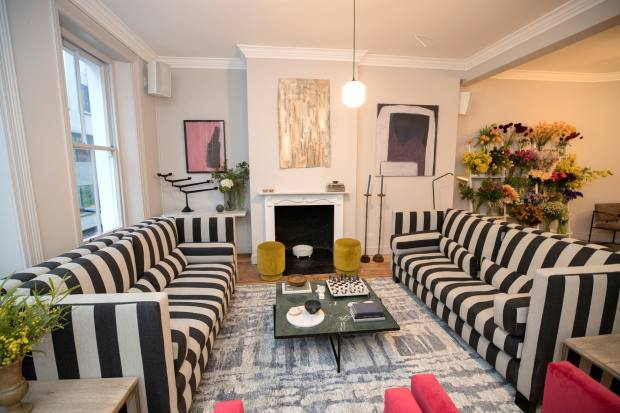 The club is set over the five storeys of a townhouse in Bloomsbury's Rathbone Place