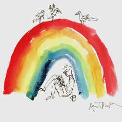 Reading, with Birds – one of 10 drawings by Quentin Blake up for auction at Bonhams, with all proceeds going to NHS Charities Together