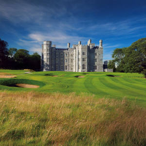 The 18th hole at Killeen Castle.