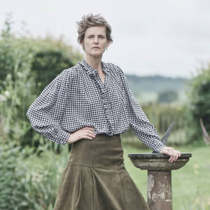 Stella Tennant at home in the Borders
