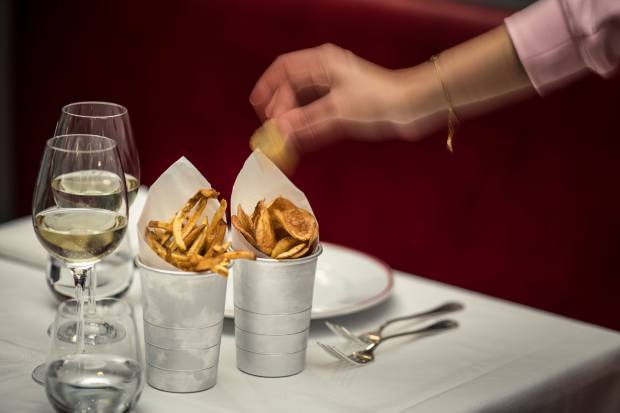 Sides at the Florentine restaurant include house-made crisps