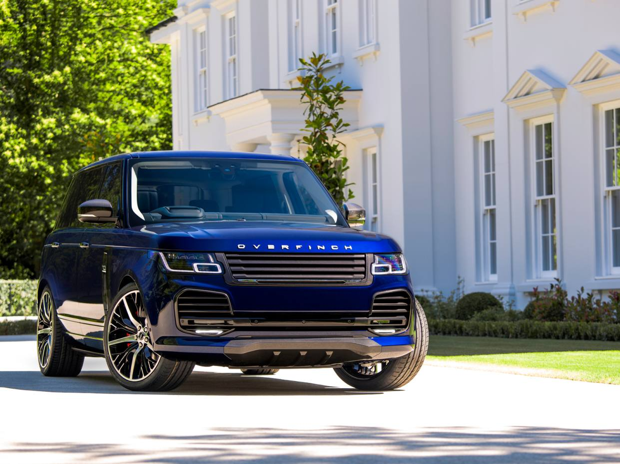 This range-topping 2018 Overfinch Range Rover with a unique two-tone paint job is priced at £199,990