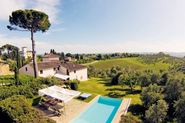 Villa Gugliaie, a luxury seven-bedroom guesthouse on the estate