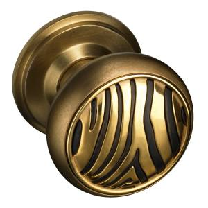The Beardmore Collection Zebra Mortice door knob in brass, £245. Also in other finishes