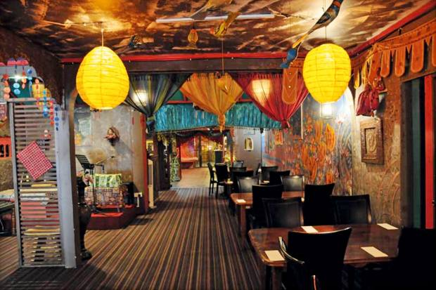 Passage Thru India restaurant, which has a magical atmosphere and a memorable prawn masala